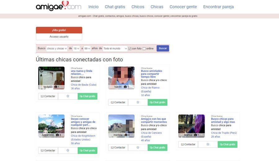 5fe63a9465137 Amigae es una página web de contactos gratuita con chat y mensajería ideal  para conocer gente